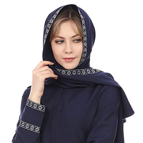 Hijab Femme Musulmane Dubai Long Hijabs Robe Foulard Écharpes de Couleur Unie Arabie Islamique Ladies Wrap Hijab Turban Long Corps de châles de Hijab Musulmans Robe de prière