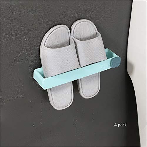 Almacenamiento de zapatos Zapatilla de toallas de baño Rack de almacenamiento gratuito WC sacador de zapatos colgantes de drenaje de almacenamiento zapatero enganchan el estante cocina for guardar obj