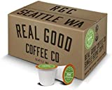 Real Good Coffee Co Recyclable Coffee Pods, Certified Organic Dark Roast, Compatible With Single Serve Coffee Makers, 72 Count