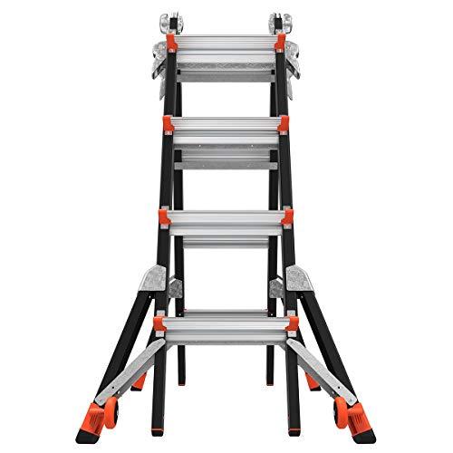 Little Giant Ladders, Dark Horse, M17, 9-15 foot, Multi-Position Ladder, Fiberglass, Type 1A, 300 lbs weight rating, (15147-001)