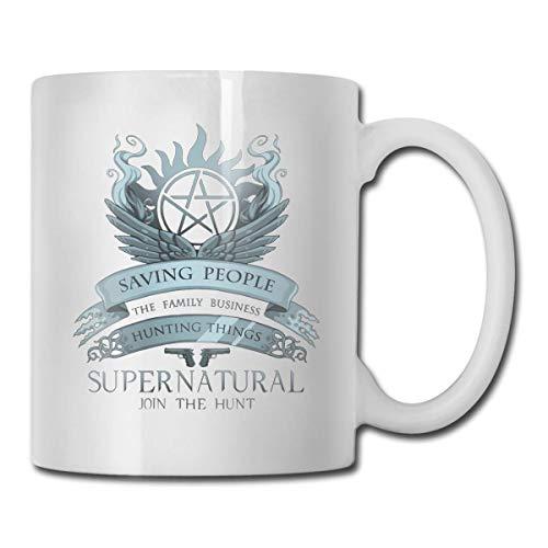 Ahorro sobrenatural Gente Cazando Cosas Regalo Taza de café divertida Taza de té Tasse blanco