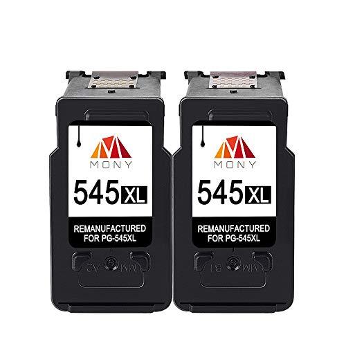 Mony Remanufacturado Cartuchos de Tinta Reemplazo para Canon PG-545 CL-546 XL (2 Negro) Compatible con Canon Pixma MG2950 MG2550 MX495 IP2850 MG2450 MG2550s MG3050 IP2800 MG2400 Impresoras