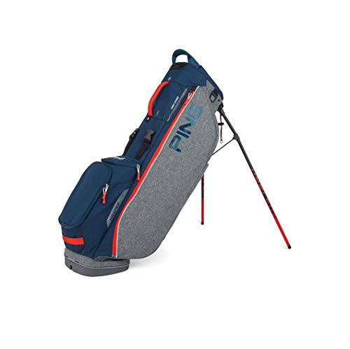 PING Hoofer Lite Stand Golf Bag [Heather Grey/Navy/Scarlet]
