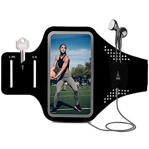 Armband for Cell Phone Running Armband Phone Holder for iPhone Armband 11 12 Pro Max/X/XR/XS Max/10/8 7 6s Plus/SE/Smartphone/ID,Phone Armband Sleeve Fit Sport Exercise Workout Fitness,Black Arm Band