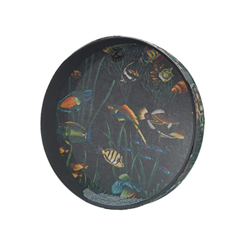 Ocean Drum 16X2.5 Polegadas com Pintura de Peixes ET-0216-10 - ET0216-10