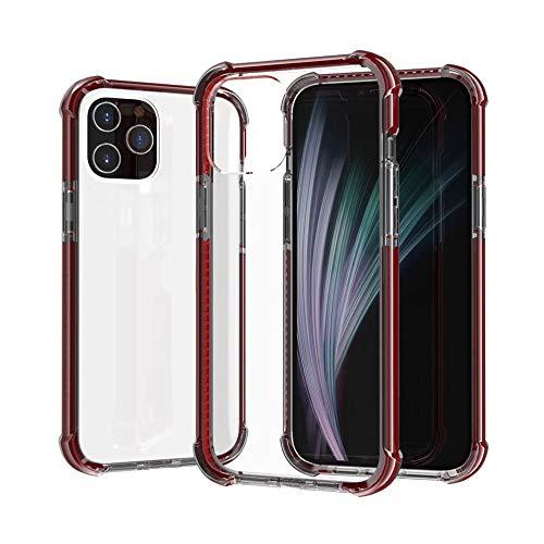 HDZW Compatible con iPhone 12 Mini Pro MAX Estuche Transparente como el Cristal Airbag de Cuatro Esquinas Resistencia Estuche Transparente de TPU a Prueba de Golpes (6,7 MAX, Naranja)