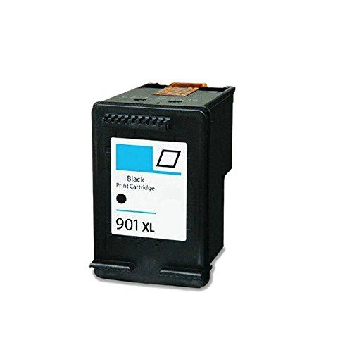 InkJello Remanufactured Tinta Cartucho Reemplazo para HP Officejet J4680c J4680 J4660 J4624 J4580 J4585 J4540 J4550 J4524 J4535 4500 4500 G510g 4500 901XL (Negro/Colour 2-Pack)
