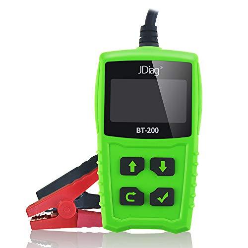 JDiag FasCheck BT200 Probador de Bateria Coche Arranque Automático 12v Comprobador de Baterias de Coche Escaner Sistema Analizador de Batería Herramienta de Diagnóstico