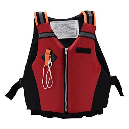 Bozaap Chaleco Salvavidas Deportivo Universal Paddle Kayak Chaleco Salvavidas Chaleco de Supervivencia Seguro con Silbato de Emergencia y Tiras Reflectantes para Nadar Canotaje Kayak Piragüismo