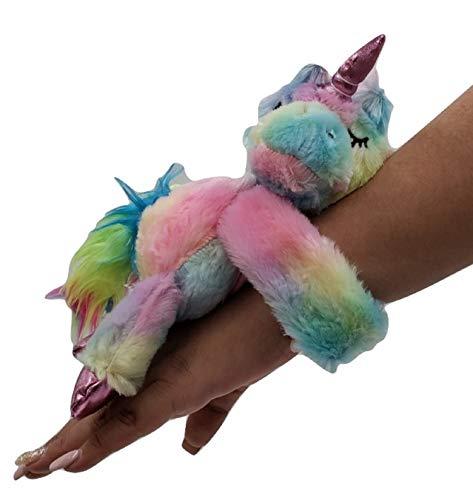 Top Trenz BFF Scented Plush Slap Bracelet -TIE DYE Unicorn + Free Plush Slow Rise Scented Unicorn Squish
