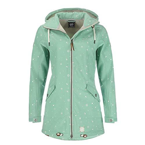 Dry Fashion Damen Softshell–Mantel Keitum Farbe lindgrün, Größe 48