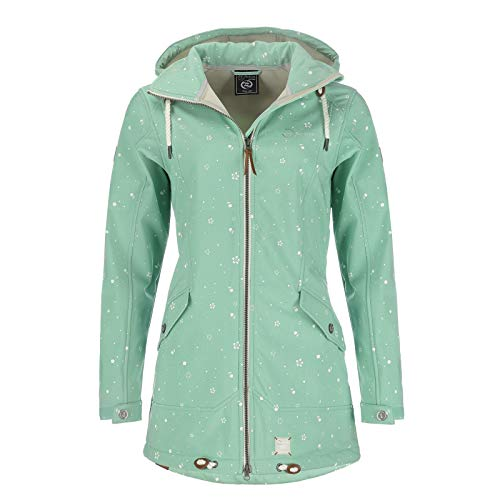 Dry Fashion Damen Softshell–Mantel Keitum Farbe lindgrün, Größe 52