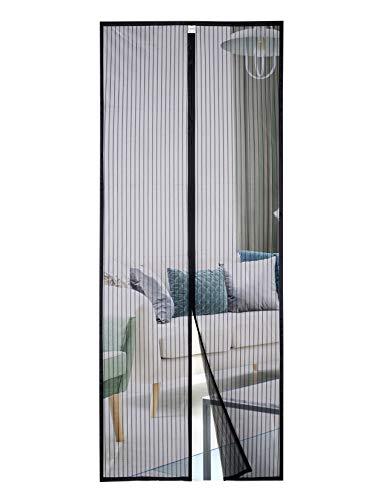 Homitt Mosquitera Magnetica para puerta 80x200cm, Mosquitera Puerta, con cortina de malla resistente con 26 imanes, parte superior reforzada antidesgarro, gancho y bucle de marco completo