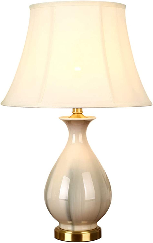 XULIWEI Stilvolle Keramik-Tischlampe - schöne Moderne High-End-Luxuslampe mit dekorativer Kupfer-Tischlampe (58  34,5 cm) B07Q3QYXSB     | Verrückter Preis, Birmingham