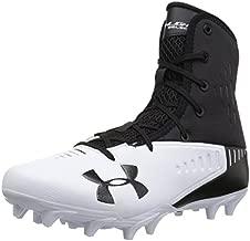 Under Armour Men's Highlight Select MC Football Shoe, Black (001)/White, 13 M US