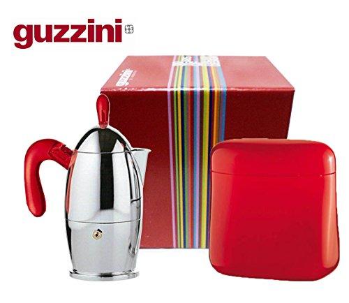 Set Espressokocher Moka 3TZ Guzzini Zaza (Begriffsklärung) + Kaffeedose Geschenkbox