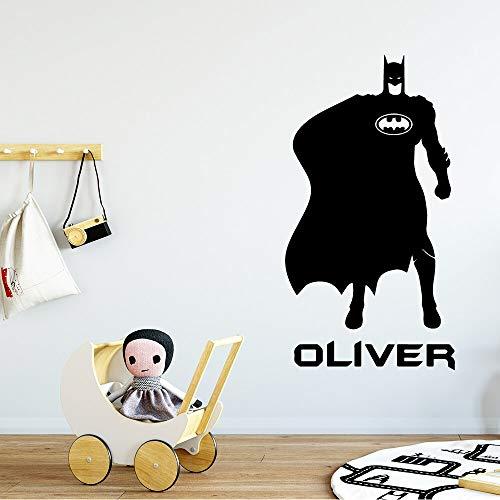 yaonuli schattige vleermuis naam gepersonaliseerd cartoon muursticker schilderij voor kinderkamer decoratie vinyl sticker