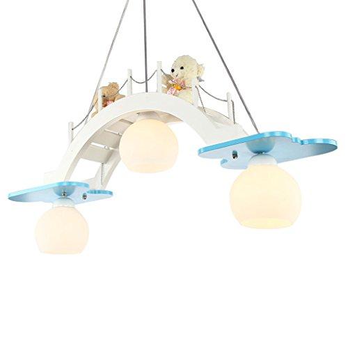 Lámpara de techo para habitación de niños con luz LED de ojo para niña, dormitorio, lámpara creativa azul, iluminación decorativa, A+