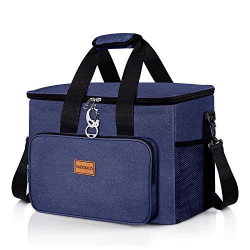 Taococo - Bolsa isotérmica plegable para picnic, 15 l / 35 l, para almuerzo, para oficina, camping, playa, coche, viajes al aire libre, 30 l azul.