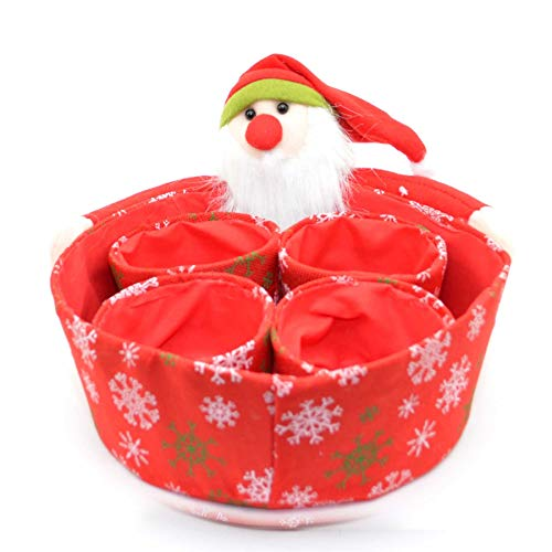 Shatchi 5 stks Nieuwigheid Set Kerstman Zoete Kerstmis Diner Tafel Decoraties Favoriete Shop Bar Restaurants Display Tips Hamper Manden Geschenken Dozen, Rood
