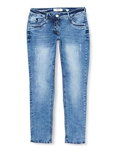 Cecil Damen Scarlett Jeans, Light Blue Used Wash, 32W / 32L