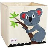 ellemoi scatola di giocattoli grande capacità contenitore per giocattoli piegabile vestiti, libri per la stanza dei bambini (koala)