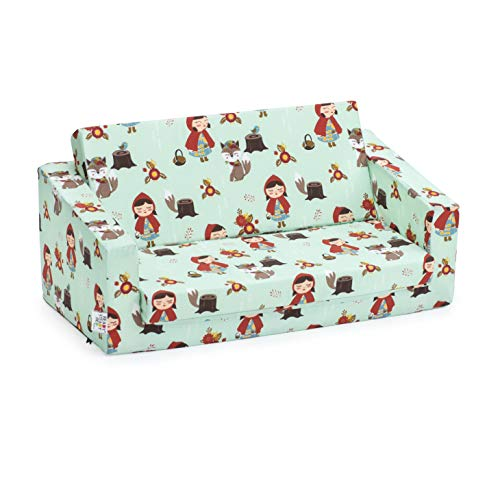 Ready Steady Bed Kids Children Mini Fold Out Lounger   Kids Sofa Bed Seat Chair   Great for Playroom kidsroom Living Room   Ergonomically Designed (Little Red)
