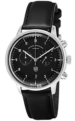 [ドゥッファ] 腕時計 HannesChrono ブラック文字盤 DF-9003-01 メンズ 並行輸入品 ブラック