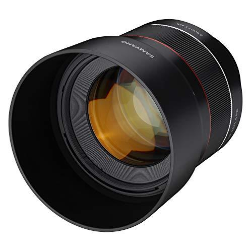 Samyang AF Portrait Vaste brandpuntsautofocus full-formaat lens voor Sony Alpha spiegelloze systeemcamera's, full-formaat en APS-C camera's met Sony E Mount, FE Mount, AF 85 mm/F1.4