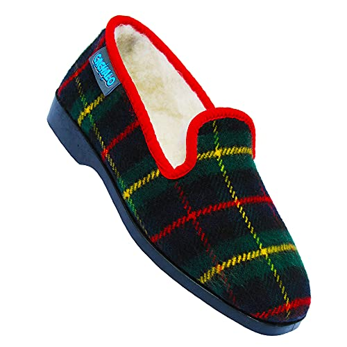 Chaussons charentaises homme Royal Marines semelles gomme