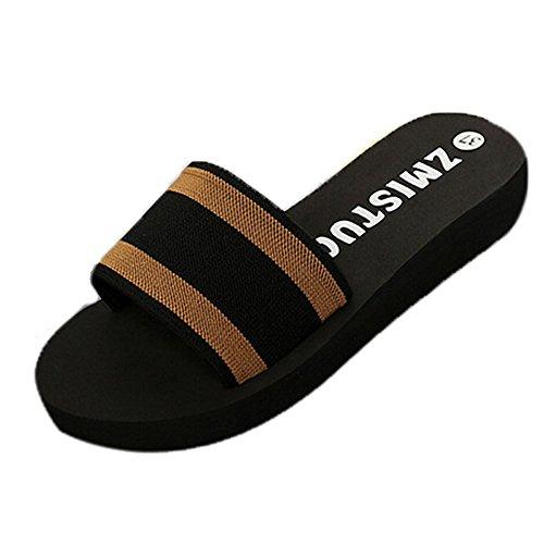 Qmber Frauen Wandern Sandalen Damen Outdoor Sommer Flach Cross Tied Beach Sport Wasser Schuhe Open Toe Verstellbare Badesandalen mit Badesandalen und Flip-Flops/Brown,36