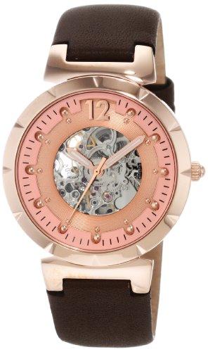 Carlo Monti Armbanduhr für Damen mit Analog Anzeige, Automatik-Uhr und Lederarmband - Wasserdichte Damenuhr mit zeitlosem, schickem Design - klassische, elegante Uhr für Frauen - CM800-305 Savona