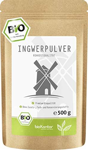 Bio Ingwerpulver / Ingwer gemahlen 500g in ROHKOSTQUALITÄT von bioKontor   100% BIO - ohne Zusatzstoffe