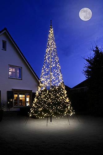 Fairybell Lichterkette für Fahnenmast 6 m mit 1200 LED Flash warmweiß Weihnachten