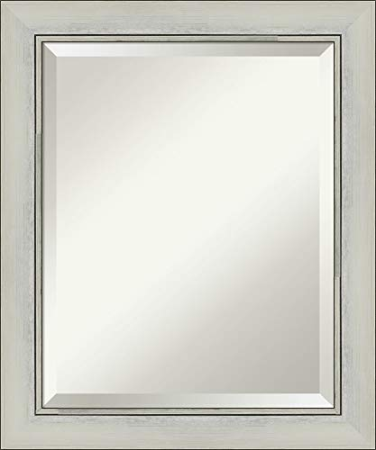 Framed Vanity Mirror | Bathroom Mirrors for Wall | Flair Silver Patina -