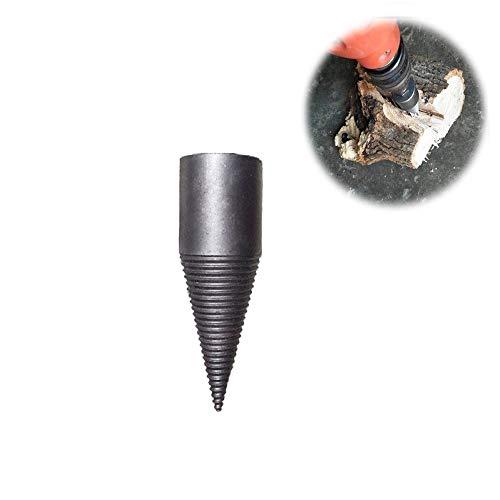 Taladro Leña,Qplcdg Trituradora de leña cono brocas de leña Splitter, Rápido y eficiente,separar la madera de forma segura (Tipo D)