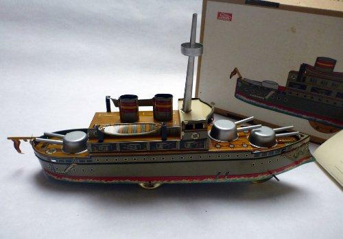 dynamic24Paya Kreuzer, Battle Ship 1928, 34cm, Original neuauflage, arroz Sue 1985, chapa de juguete para coleccionistas, Tin Plate Toy for Collectors