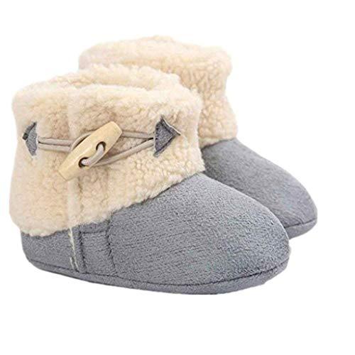 Auxma Baby schönen Herbst Winter warme weiche Sohle Schneeschuhe weiche Krippe Schuhkleinkind Stiefel (12cm(0-6 Monate), Grau)