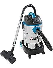 Arebos - Aspiradora industrial | 1600 W | aspiradora en seco y húmedo | con y sin bolsa | depósito de 30 L | color azul