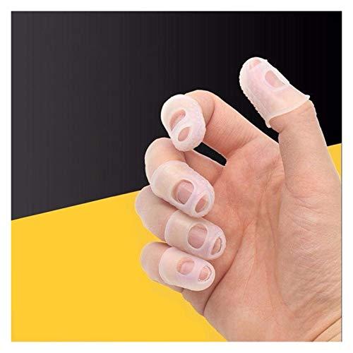 Protectores de yemas de los dedos 20pcs Funda de dedo Hombres antideslizantes Abrigo Play Play Play Guantes para el dolor para el ukelele Eléctrico de la guitarra acústica instrumento musical de cuerd