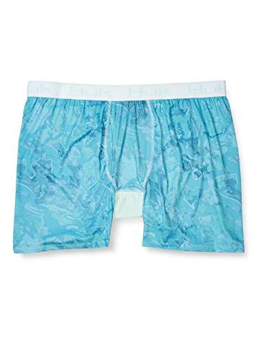 HUK Herren-Boxershorts in Camouflage-Optik, Dry Fit, mit antimikrobieller Behandlung, Boca Grande, Größe 3XL