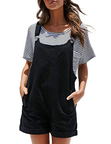 Relipop Women's Plain Jumpsuit Denim Overall Shorts Rompers with Pockets
