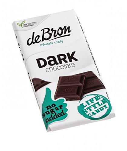 De Bron Dark Stevia Zartbitter-Schokolade 85 g