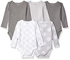 4-way stretch ensures a perfect fit Super soft, flexible fabric moves with baby Expandable shoulders are easy to get over baby's head Reinforced snaps for durability 4 simple sizes available in 6 month increments and fits baby longer