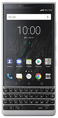BlackBerry Key2 Single SIM Smartphone (4,5 Zoll Display, 12 Megapixel Kamera, LTE, 6 GB RAM, 64 GB Speicher, Quick Charge 3.0, Android 8.1 Oreo) Silber
