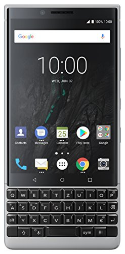 BlackBerry Key2 Single SIM Smartphone (4,5 Zoll Display, 12 Megapixel Kamera, LTE, 6 GB RAM, 64 GB Speicher, Quick Charge 3.0, Android 8.1 Oreo) Silber