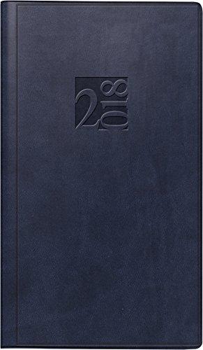 rido/idé 701690030 Taschenkalender Taschenplaner int., 2 Seiten = 1 Woche, 87 x 153 mm, Kunstleder-Einband West blau, Kalendarium 2019