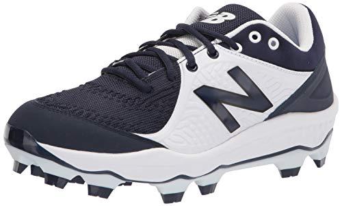 New Balance Men's 3000 V5 Molded Baseball Shoe, Navy/White, 10.5