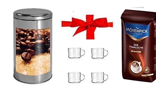 Mövenpick Kaffee Ganze Bohne, 1er Pack ( 500 g Packung) Kaffeedose rund