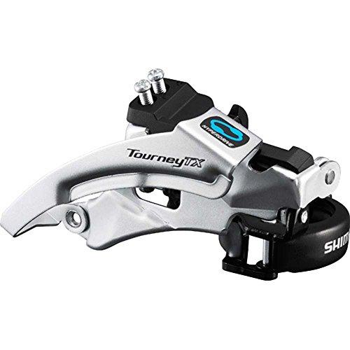 Shimano Tourney FD-TX800-TS3 Umwerfer 7/8-fach Top Swing schwarz/silber Ausführung 63-66° Kettenstrebenwinkel 2016 Mountainbike